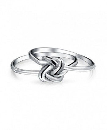 Bling Jewelry Double Infinity Sterling in Women's Band Rings