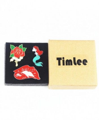 Timlee Cute Mermaid Enamel mermaid in Women's Brooches & Pins