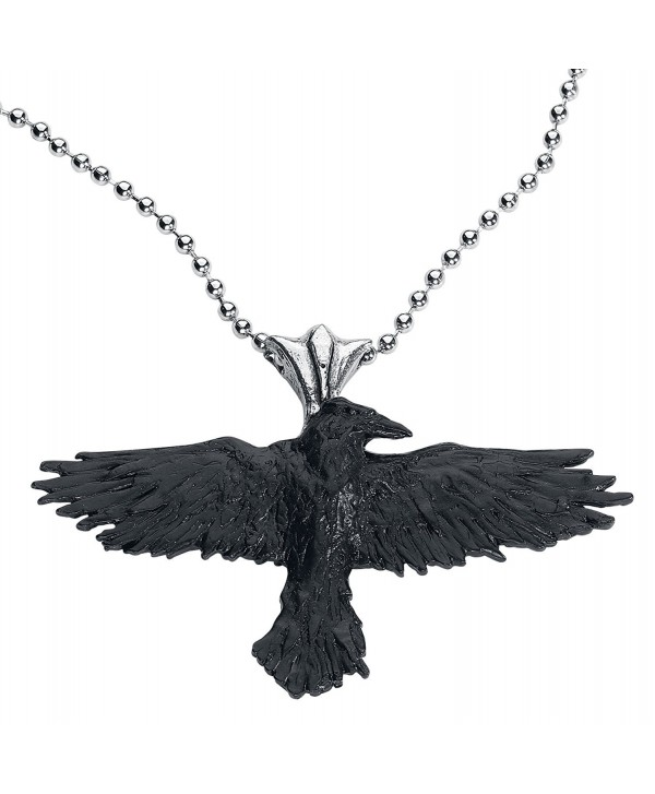 Black Raven Alchemy Gothic Necklace - CJ114KIYC0T