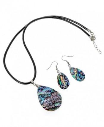 Angel Jewelry Abalone Necklace Earrings in Women's Pendants