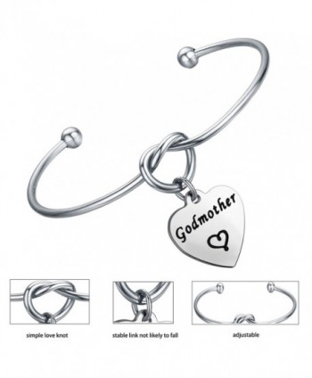 FEELMEM Godmother Bracelet Godmothers Charm Silver in Women's Cuff Bracelets