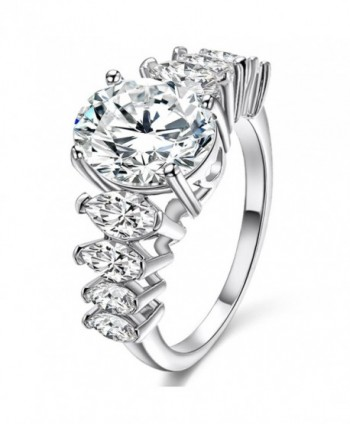 Exquisite Zirconia Rhodium Evening Cocktail Jewelry - CV184EYA675