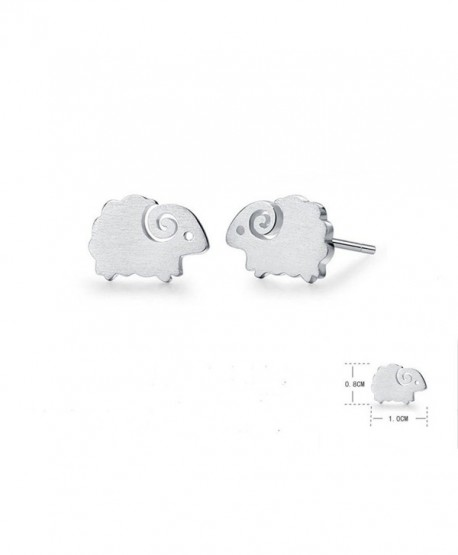 Winwest Sterling Silver Lovely Sheep Stud Earrings - C617YZDYDDC