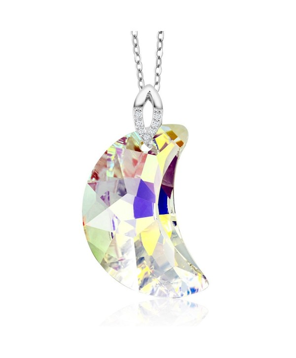 Sterling Boreale Necklace Swarovski Crystals - C911YW40H9L
