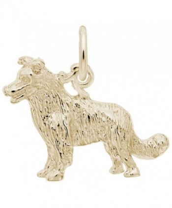 Border Collie Dog Charm- Charms for Bracelets and Necklaces - CK186URY90M