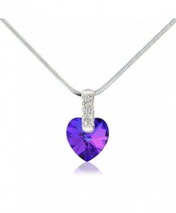 Purple Swarovski Elements Necklace Earrings in Women's Jewelry Sets