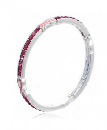 cocojewelry Pink Ribbon Fight Against Breast Cancer Stretch Bracelet - CY12MD2YL5J