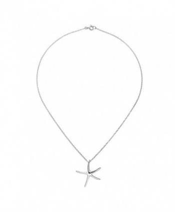 Playful Starfish Sterling Silver Necklace in Women's Pendants