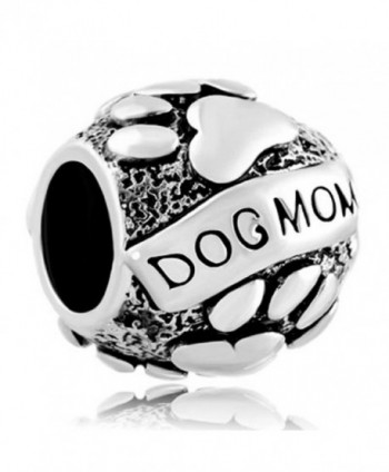 JewelryHouse Dog Mom Foot Print Puppy Dog Charms For Bracelets - CB188KQGIXC