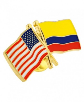 PinMarts Colombia Crossed Friendship Enamel