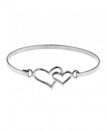 Double Heart One Love .925 Sterling Silver Link Bracelet - CC127T9AQMR