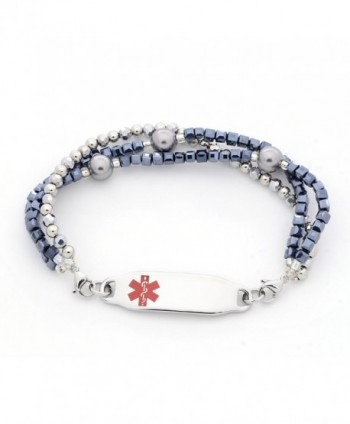 Medical Triple Silver Interchangeable Bracelet
