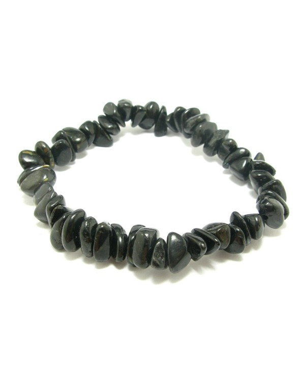 "Nuumite Nuummite Stretch Bracelet From Greenland - 7"" - CY11UXEWG57"