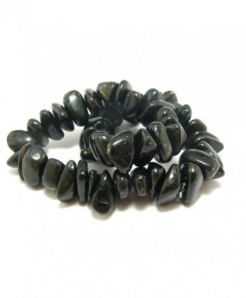 Nuumite Nuummite Stretch Bracelet Greenland in Women's Stretch Bracelets