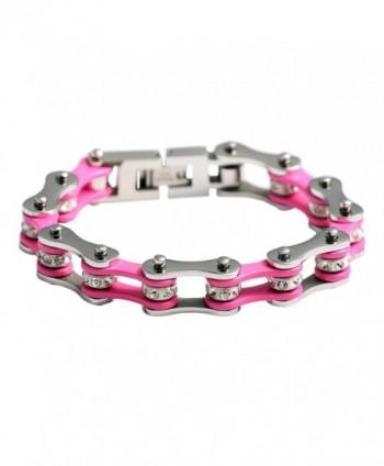 URs Stainless Bracelet Silver Polished in Women's Link Bracelets