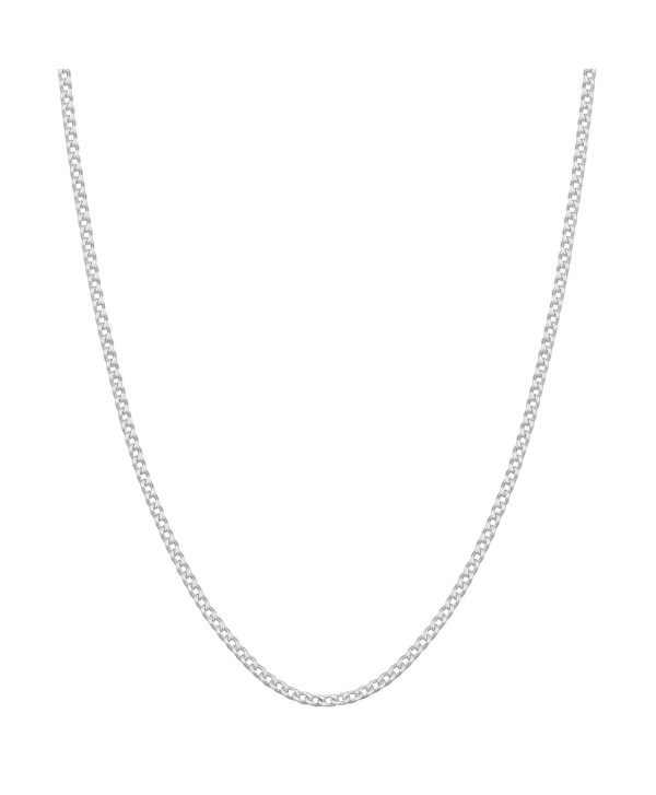 Sterling Silver 0.9mm Baby Curb Chain (16- 18- 20- 22- 24 or 30 inch) - CZ1162A9UJP