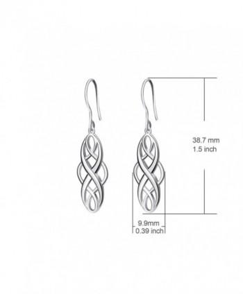 Earrings Sterling Polished Vintage Platinum in Women's Drop & Dangle Earrings