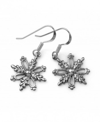 Oxidized Sterling Filigree Snowflake Christmas