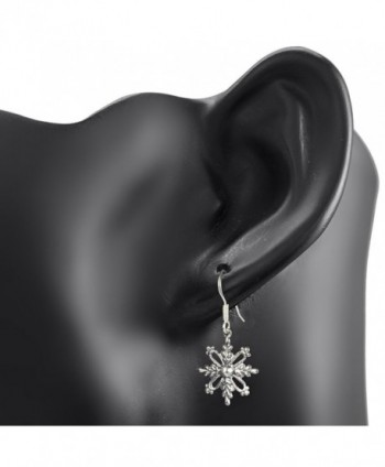 Oxidized Sterling Filigree Snowflake Christmas in Women's Drop & Dangle Earrings