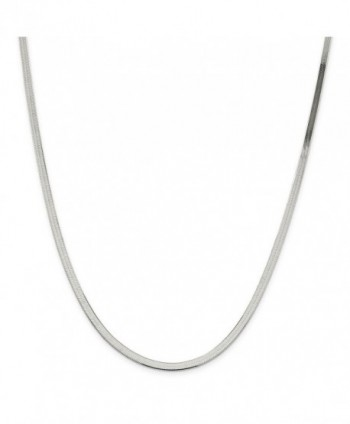 "925 Sterling Silver 3.2mm Polished Herringbone Chain Necklace 7"" - 24"" - CH127OGIOB1"