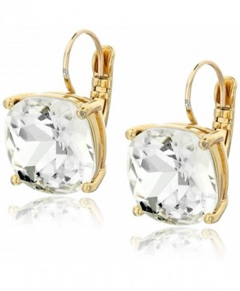 kate spade new york Kate Spade Earrings Small Square Leverback Earrings - Clear - CG110FXM11P