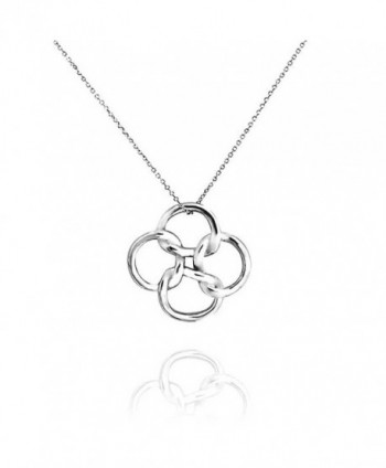 Bling Jewelry Celtic Open Clover Pendant Sterling Silver Necklace 18 Inches - CY113TLN4YD