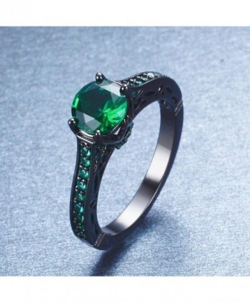 Junxin Jewelry Single Engagement Emerald in Women's Wedding & Engagement Rings