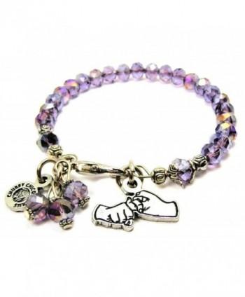Friendship In Sign Language Splash of Color Bracelet in Lavender Purple - CN12J6CV60H