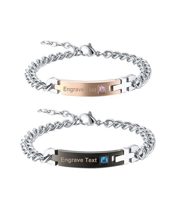 Gagafeel Crystal Bracelet Engraved Stainless - Couples - CQ182LYQKUO
