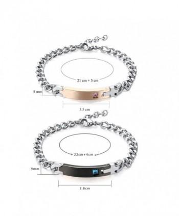 Gagafeel Crystal Bracelet Engraved Stainless