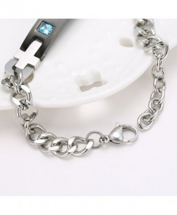 Gagafeel Crystal Bracelet Engraved Stainless in Women's Cuff Bracelets
