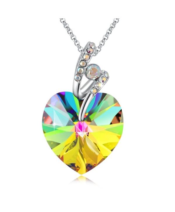 Swarovski Necklace Crystals Birthstone Valentines - C8185UGI5MM