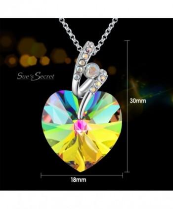 Swarovski Necklace Crystals Birthstone Valentines in Women's Pendants