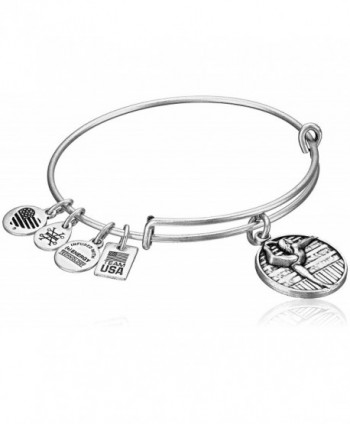 Alex and Ani Team USA Gymnastics Expandable Bangle Bracelet - Rafaelian Silver - CC12EU7WCH9