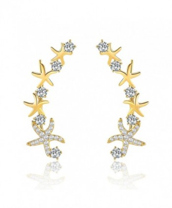 Mevecco Crawler Climber Earrings Jewelry Star3 GD - Star3 Gold - CC186L38RLN
