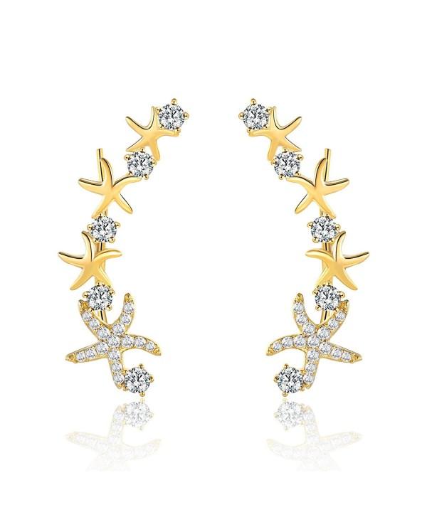 Mevecco Crawler Climber Earrings Jewelry Star3 GD - Star3 Gold - CC186L38RLN