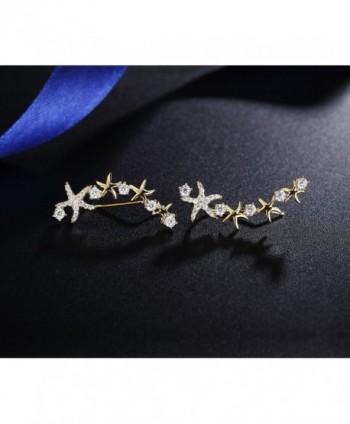 Mevecco Crawler Climber Earrings Jewelry Star3 GD
