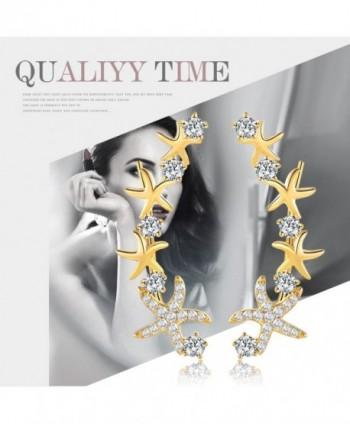 Mevecco Crawler Climber Earrings Jewelry Star3 GD in Women's Cuffs & Wraps Earrings