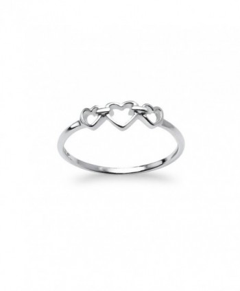 Triple Heart Interlocked Infinity Ring