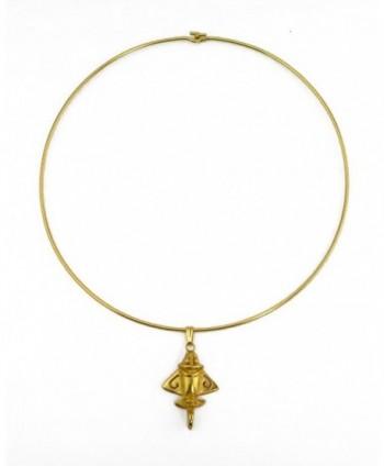 Pre Columbian Golden Jet 3 Choker Necklace in Women's Choker Necklaces