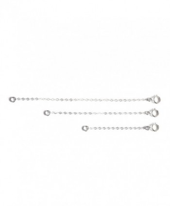 "Sterling Silver Necklace Bracelet Extender Chain 3pc Set - 2""- 3""- 4""- by Wild Moonstone - CI186GOOA87"