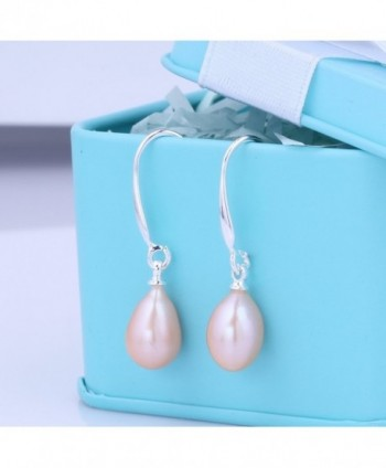 Culturaled Natural Freshwater Dangling Earrings in Women's Drop & Dangle Earrings