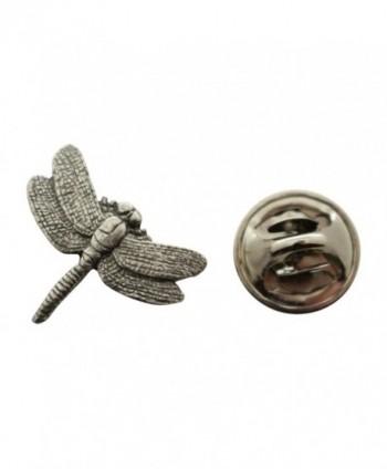 Dragonfly Mini Pin ~ Antiqued Pewter ~ Miniature Lapel Pin ~ Sarah's Treats & Treasures - CW12H6UR0ZL