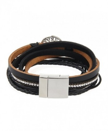 Jenia Leather Bracelet Pearl Wristband in Women's Bangle Bracelets