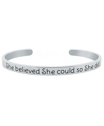 Inspirational Bracelet BELIEVED Positive Friendship