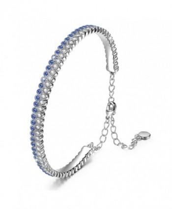 """J.NINA """"Galaxy"""" Sapphire Bracelet Made with Swarovski Crystal Women Bangle. Jewelry for Girlfriend - CM18220AUEM"""