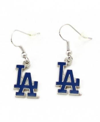Los Angeles Dodgers MLB Dangle Earrings - Baseball Fashion Novelty Jewelry - CB11KDGNKVJ