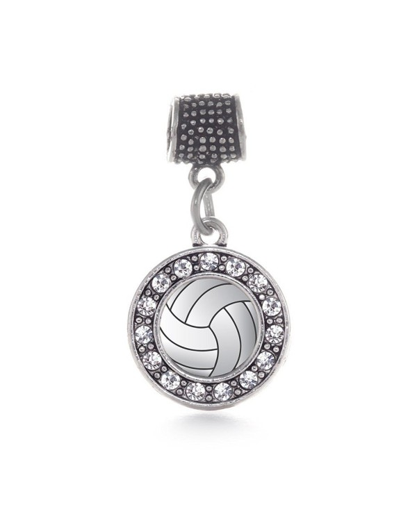Inspired Silver Volleyball Bracelets Compatible - CZ124RIAAGT