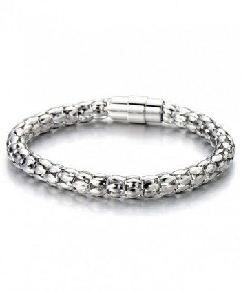 Stainless Steel Ladies Link Chain Bracelet Polished - CY12D2IHP9H