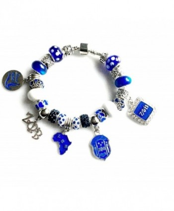 Zeta Phi Beta Sorority Charm Bracelet 4 Sizes Available - C812O1HX25F